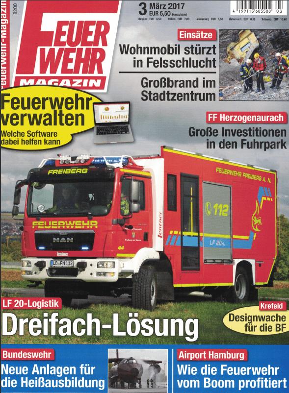 Feuerwehr-Magazin-Titelseite