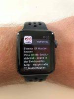 Alarm auf der Smartwatch